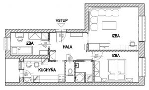 3 izbový byt vo Vrakuni